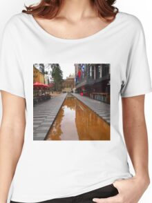 City Square on a wet day Melbourne VIC Australia Women's Relaxed Fit T-Shirt