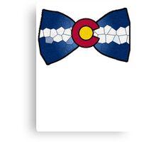 Colorado Bow-Tie Canvas Print