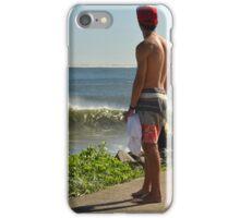 Surf Watcher 2 - Nobby's Breakwall, Newcastle NSW iPhone Case/Skin