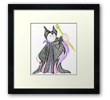 'Old Style' Plushie Maleficent Framed Print