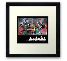 Nooooo! Not the Tardis! Framed Print
