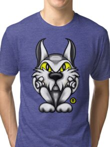 Rock Tom Cat  Tri-blend T-Shirt