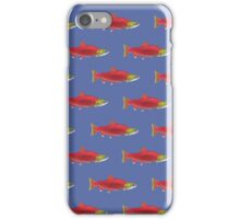 Red Salmon Pattern iPhone Case/Skin