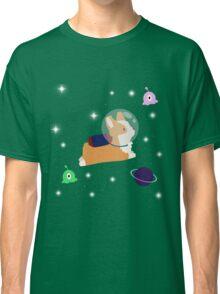 Corgi in space Classic T-Shirt
