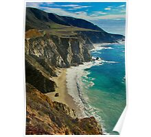 California Highyway 1 - San Luis Obispo County Poster
