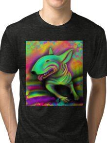 English Bull Terrier Colour Splash  Tri-blend T-Shirt