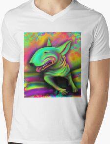 English Bull Terrier Colour Splash  Mens V-Neck T-Shirt