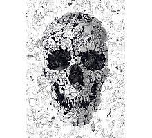 Doodle Skull Photographic Print