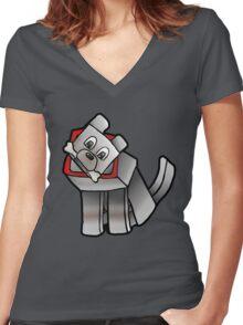 Steve's Best Friend Women's Fitted V-Neck T-Shirt
