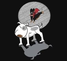 Able to leap Bull Terriers in a single bound... by Diana-Lee Saville