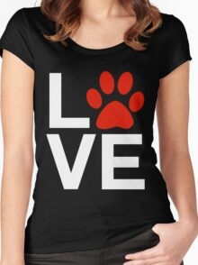 Love Dogs and/or Cats Women's Fitted Scoop T-Shirt