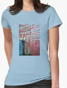 The Old Barn Door Womens Fitted T-Shirt