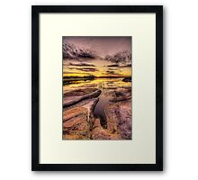 Reaching Rocks 1 Framed Print
