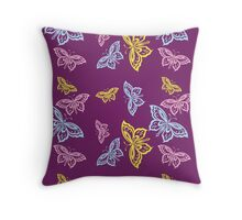 Colorful Butterfly Pattern Throw Pillow