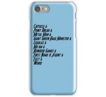 Nicknames 2.0 iPhone Case/Skin