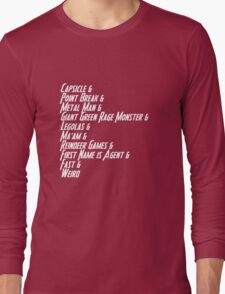 Nicknames 2.0 Long Sleeve T-Shirt