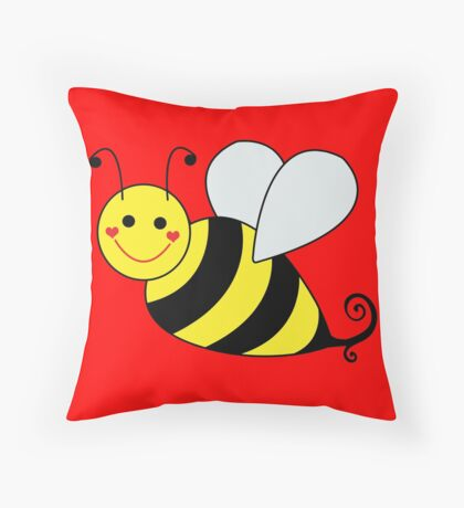 Bumble Bee Graphic Throw Pillow