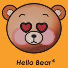 Hello Bear heart eyes T-shirt by sgame