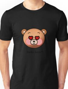 Hello Bear heart eyes T-shirt Unisex T-Shirt
