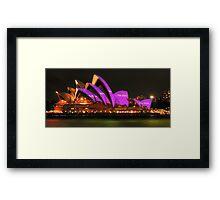 Vivid Sydney #2 - Sydney Opera House - The HDR Experience Framed Print