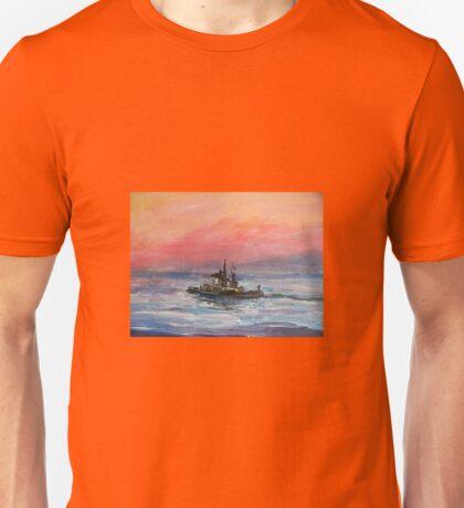 TugBoat at Sunrise Unisex T-Shirt