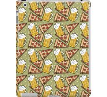 Beer and Pizza Graphic Pattern iPad Case/Skin