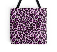 Purple Leopard Print  Tote Bag