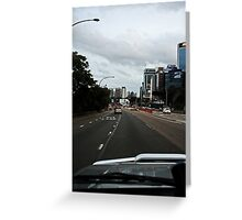 Driving in The City Greeting Card