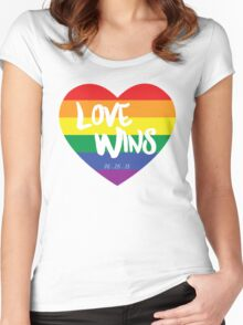 Love Wins Women's Fitted Scoop T-Shirt