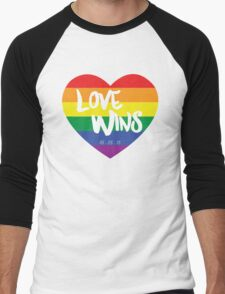 Love Wins Men's Baseball ¾ T-Shirt