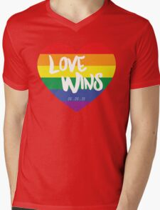 Love Wins Mens V-Neck T-Shirt