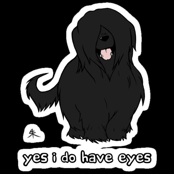 Black Briard - Yes, I have eyes. w/ TEXT by Shukura