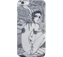 Original Ink Drawing (Escape) iPhone Case/Skin