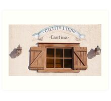 Cantina Window Art Print
