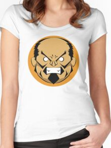 Angry Samurai | Orange Variation Women's Fitted Scoop T-Shirt