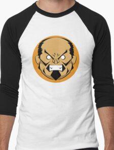 Angry Samurai | Orange Variation Men's Baseball ¾ T-Shirt