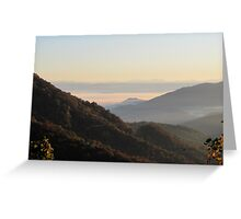 Valley Fog At Sunrise Greeting Card