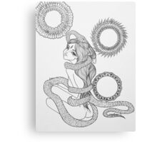 Original Ink Drawing (Coiled) Canvas Print