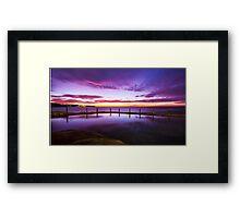 Sunrise over ocean baths Framed Print