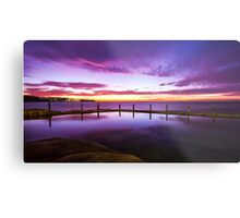 Sunrise over ocean baths Metal Print