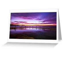 Sunrise over ocean baths Greeting Card