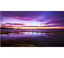 Sunrise over ocean baths Photographic Print