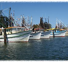 Richmond River Trawlers by Karen Eaton