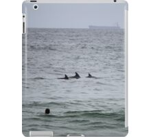 Surfing Dolphins @ Newcastle iPad Case/Skin