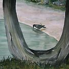 The Raven and the Old Cedar by loralea
