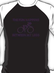 Women's Cycling Fun Between My Legs Funny Shirt T-Shirt