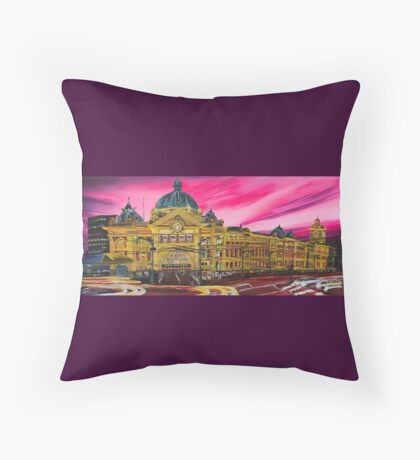 Flinders Street Station Throw Pillow