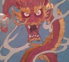 Oriental Dragon Acrylic Sticker