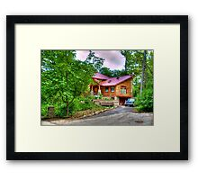 A House in the Woods Framed Print
