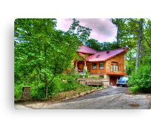 A House in the Woods Canvas Print